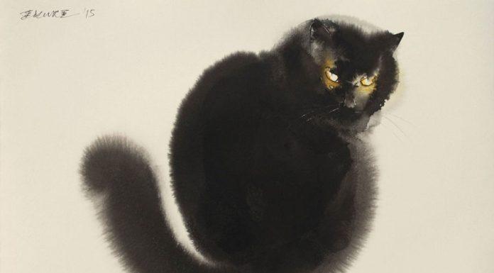 水墨畫的貓10